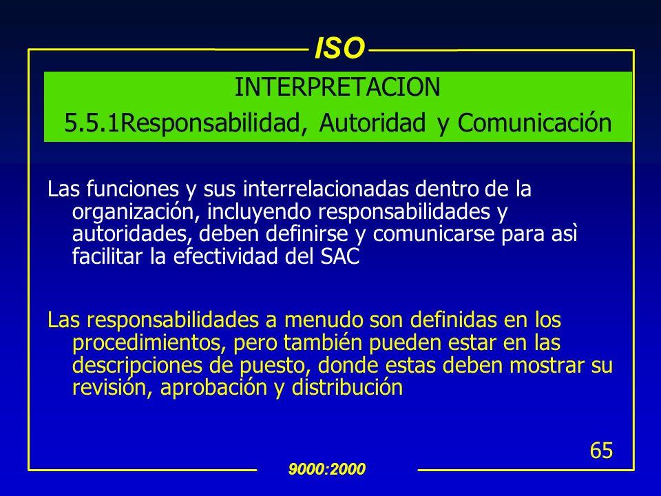 INTERPRETACION 5.5.1Responsabilidad, Autoridad y Comunicación