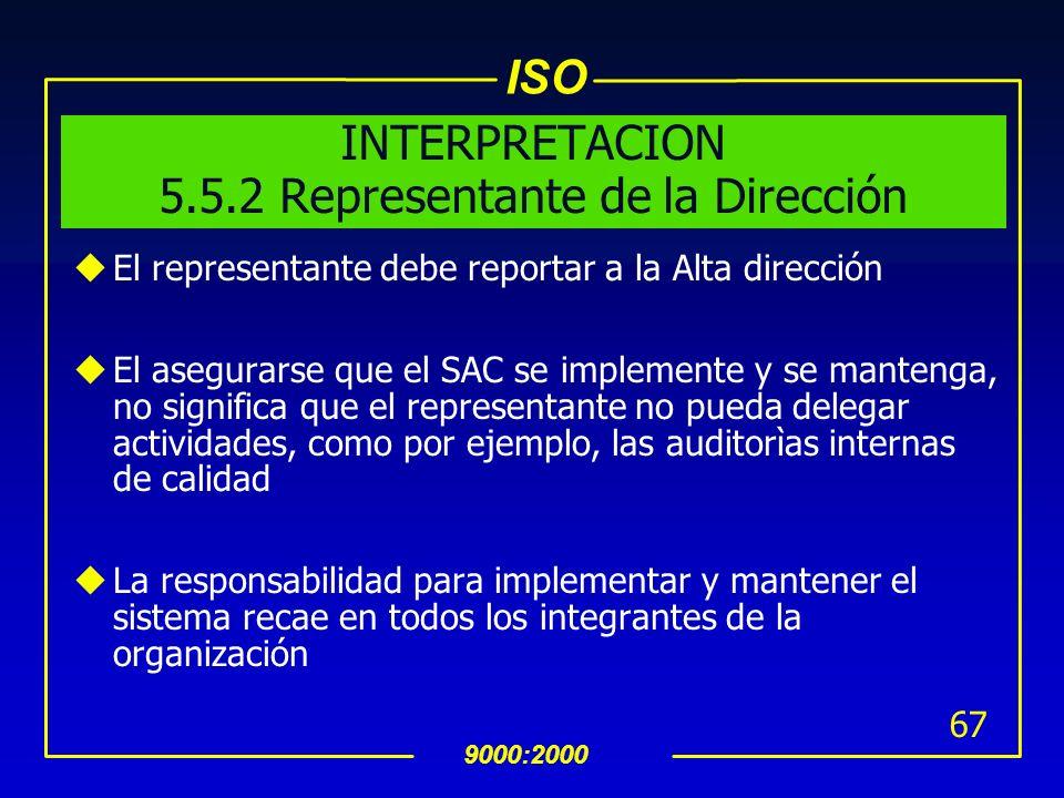 INTERPRETACION 5.5.2 Representante de la Dirección