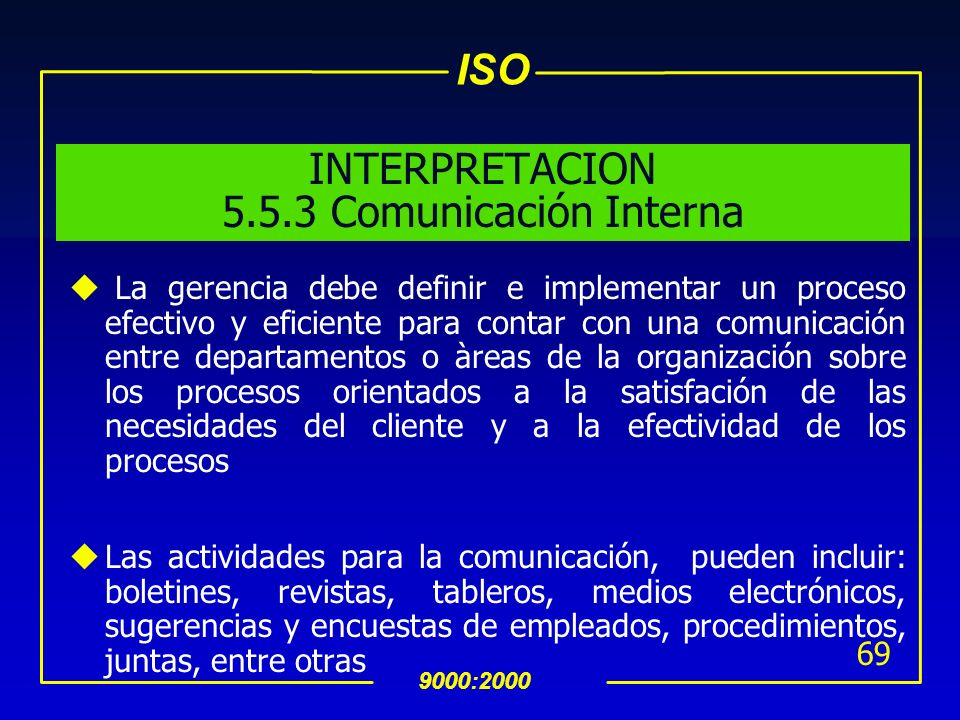 INTERPRETACION 5.5.3 Comunicación Interna