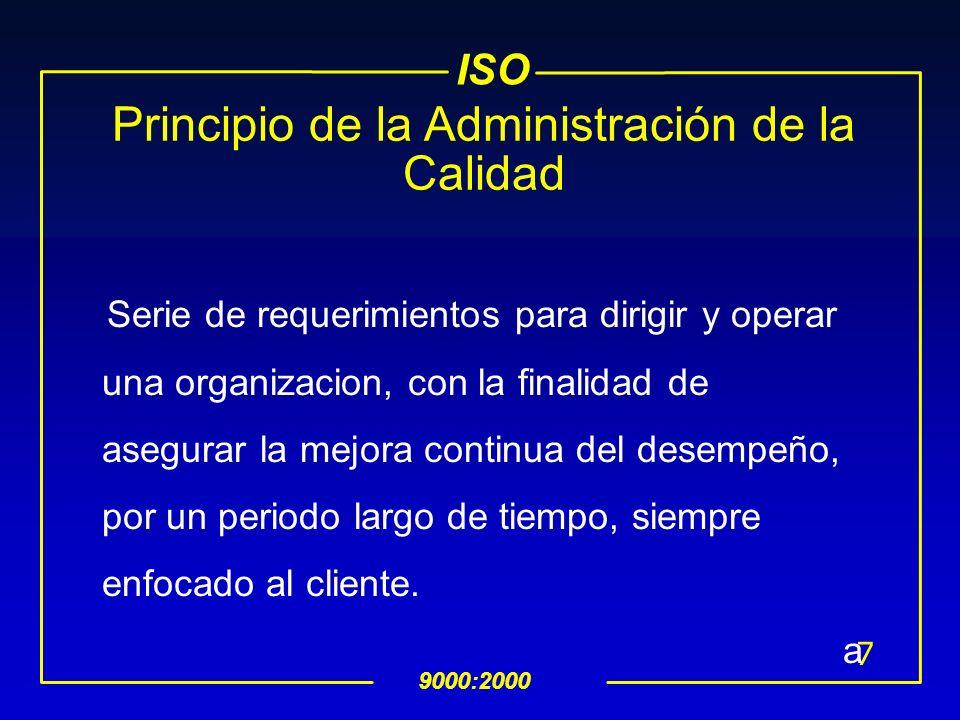 Principio de la Administración de la Calidad