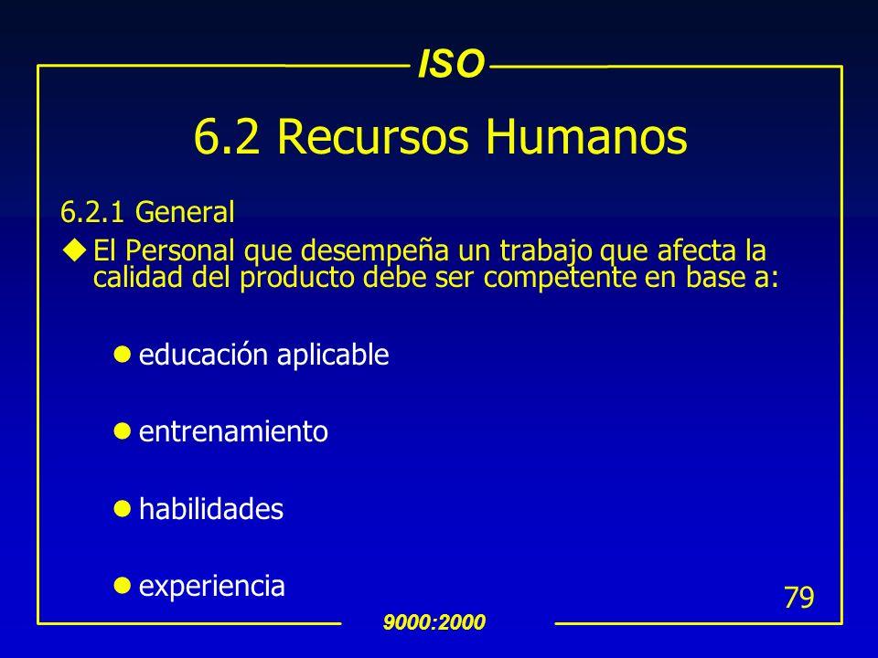 6.2 Recursos Humanos 6.2.1 General