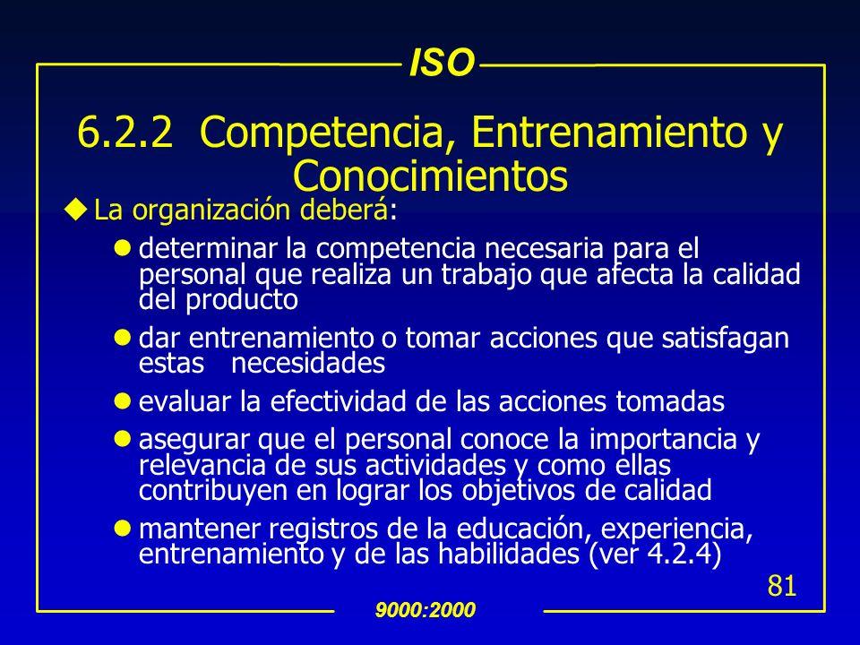 6.2.2 Competencia, Entrenamiento y Conocimientos