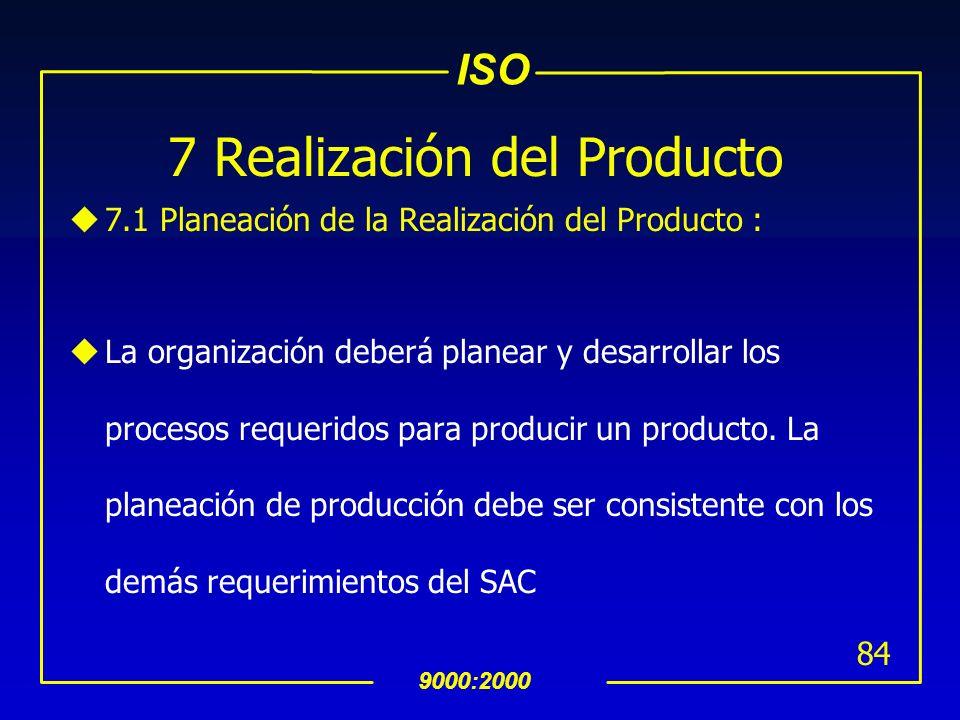 7 Realización del Producto