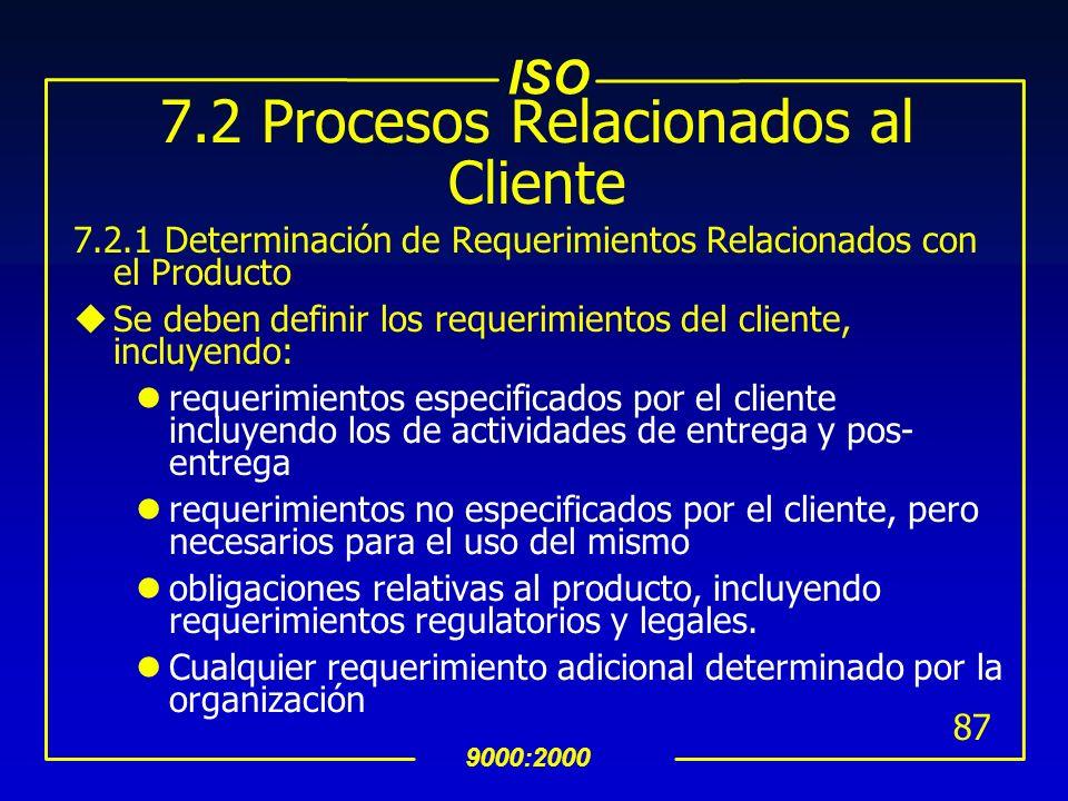 7.2 Procesos Relacionados al Cliente