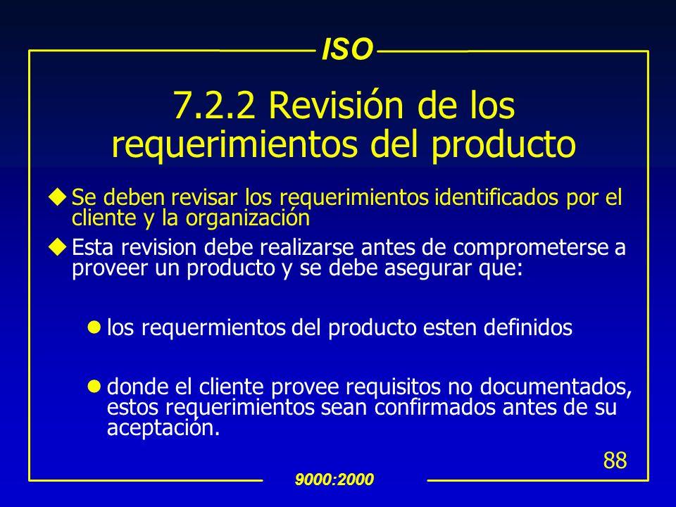 7.2.2 Revisión de los requerimientos del producto