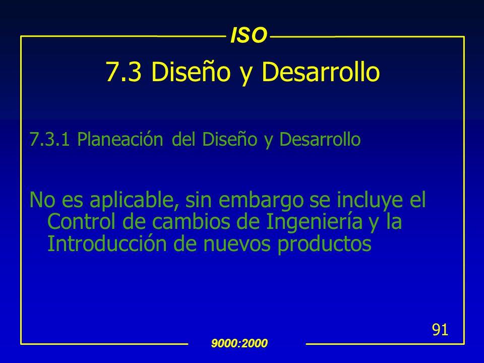 7.3 Diseño y Desarrollo 7.3.1 Planeación del Diseño y Desarrollo.