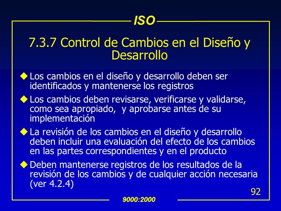 7.3.7 Control de Cambios en el Diseño y Desarrollo