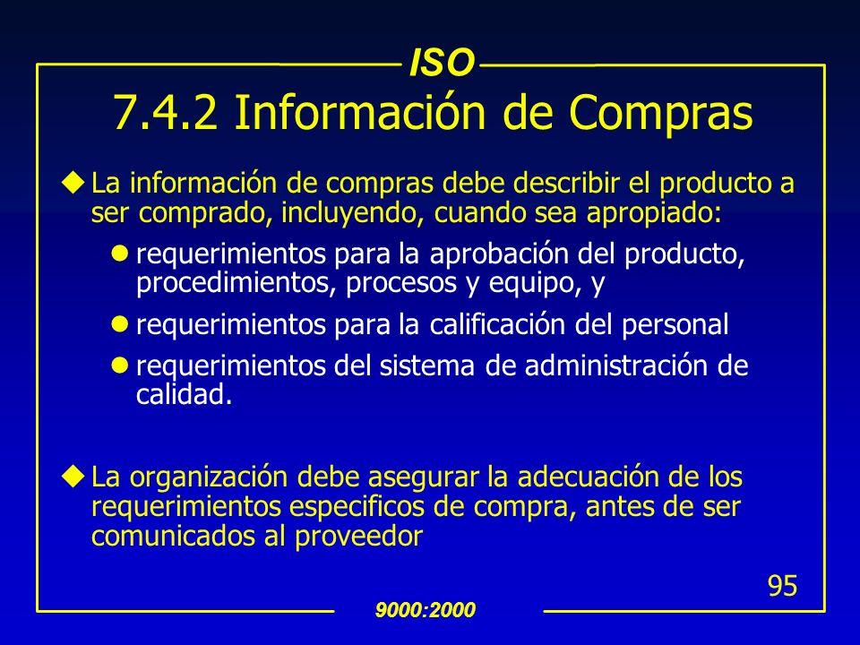 7.4.2 Información de Compras