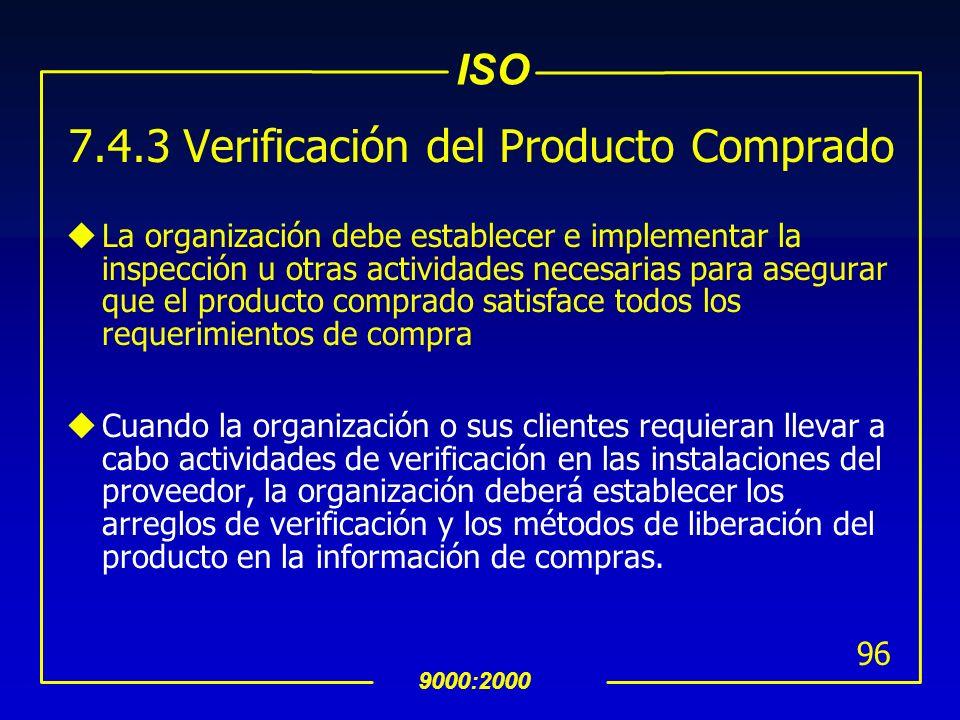7.4.3 Verificación del Producto Comprado