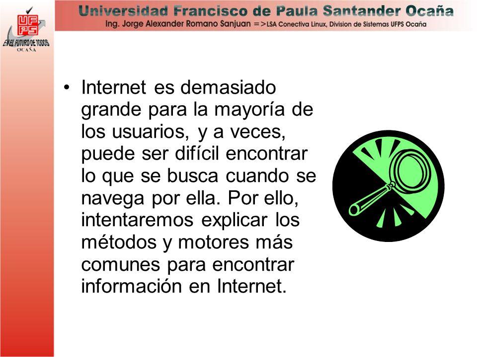 Internet es demasiado grande para la mayoría de los usuarios, y a veces, puede ser difícil encontrar lo que se busca cuando se navega por ella.