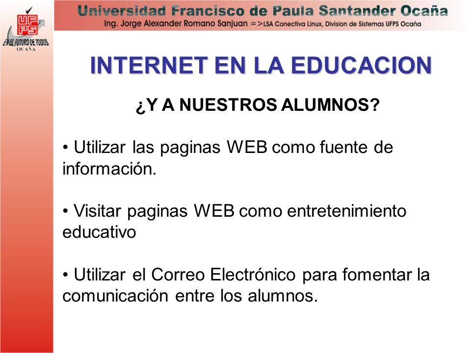 INTERNET EN LA EDUCACION