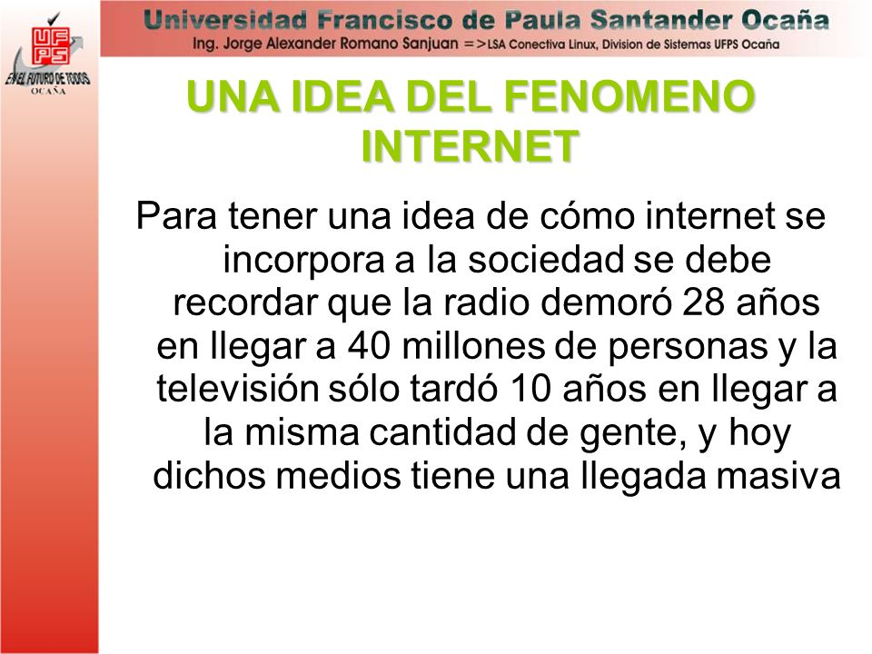 UNA IDEA DEL FENOMENO INTERNET