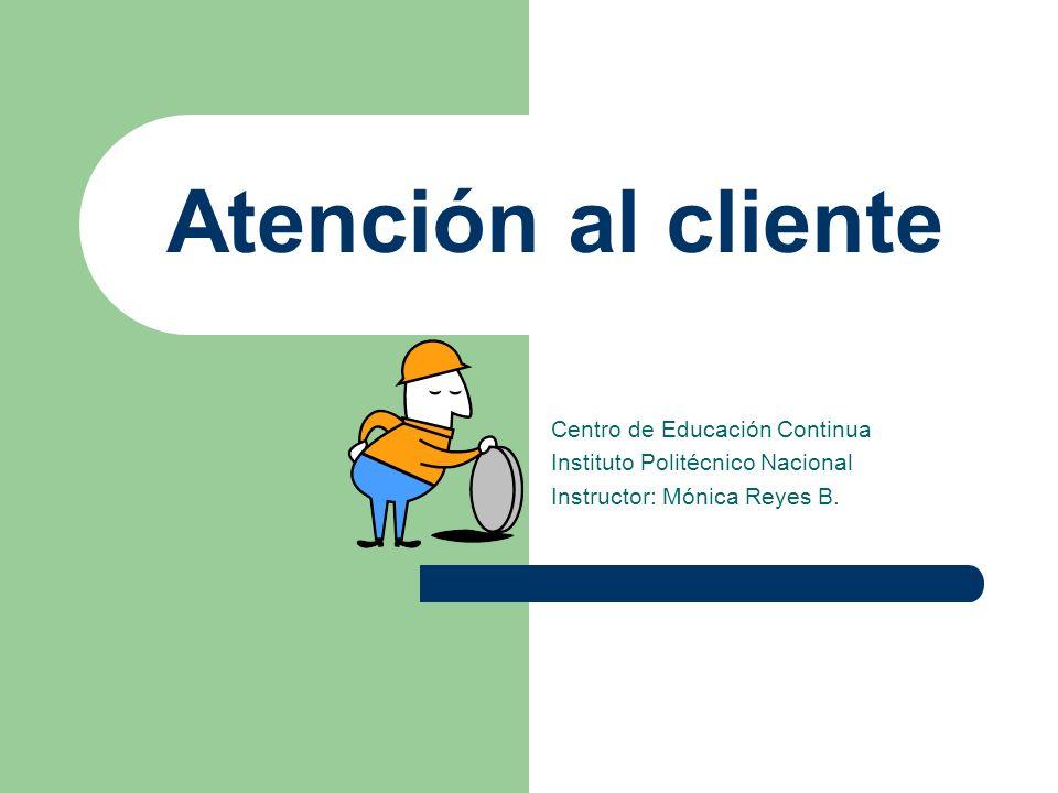 Atención al cliente Centro de Educación Continua