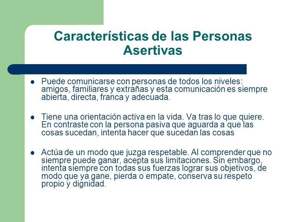 Características de las Personas Asertivas