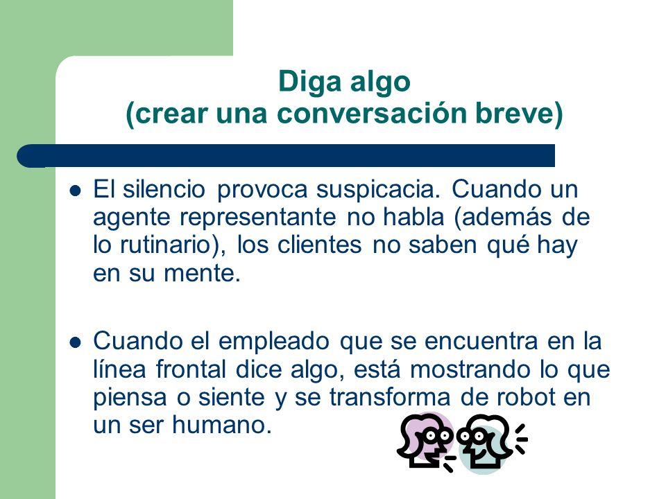 Diga algo (crear una conversación breve)