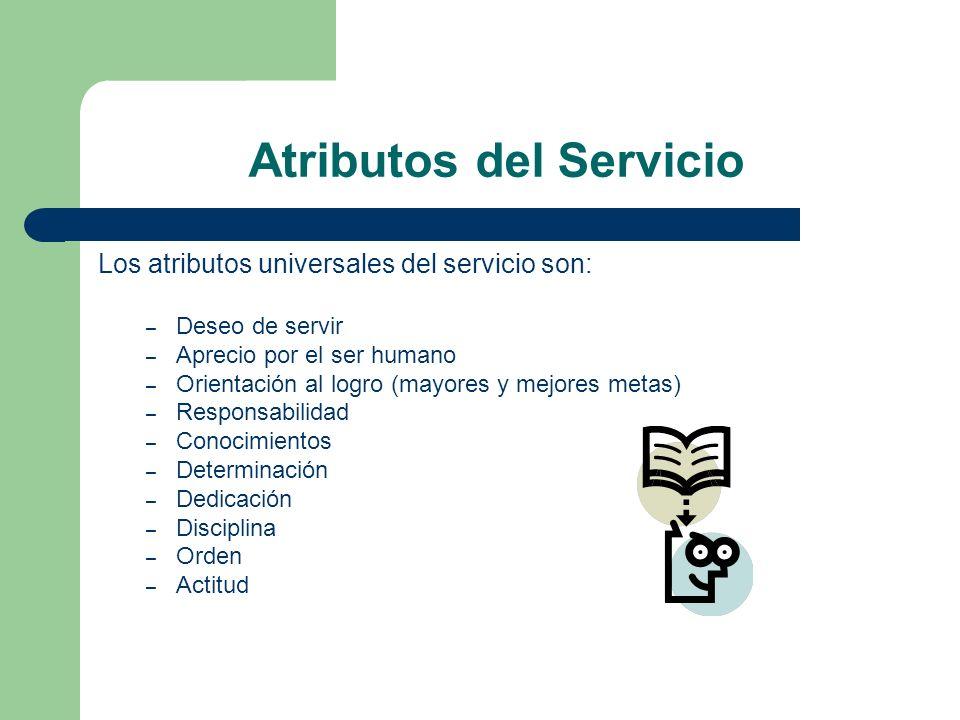 Atributos del Servicio