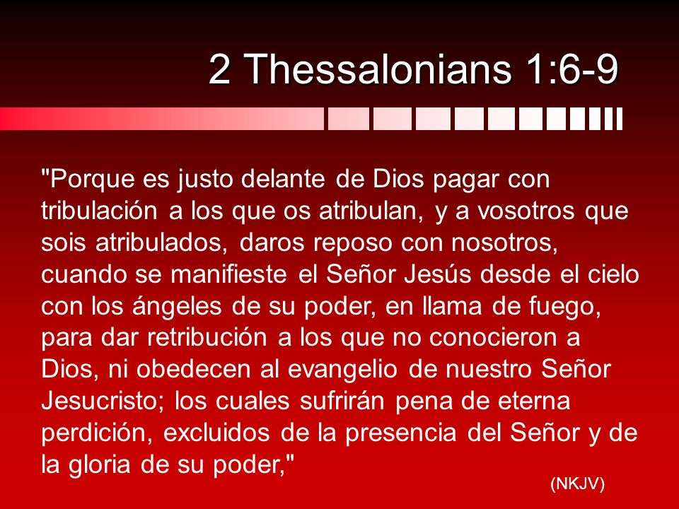 2 Thessalonians 1:6-9