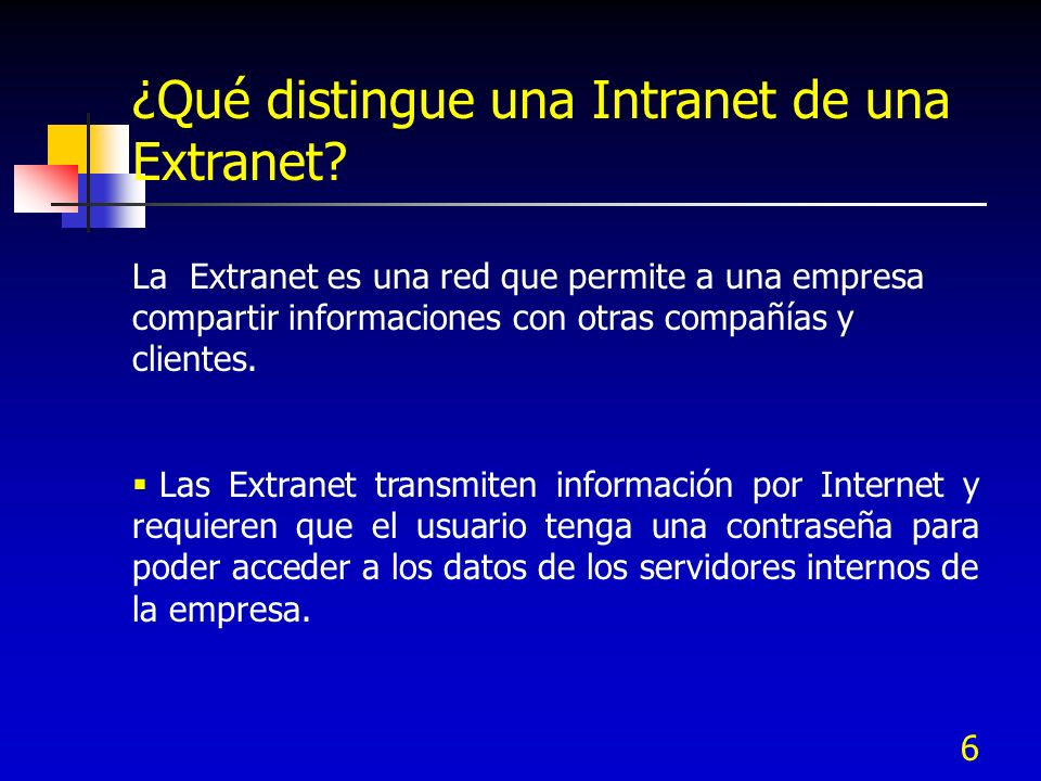 ¿Qué distingue una Intranet de una Extranet