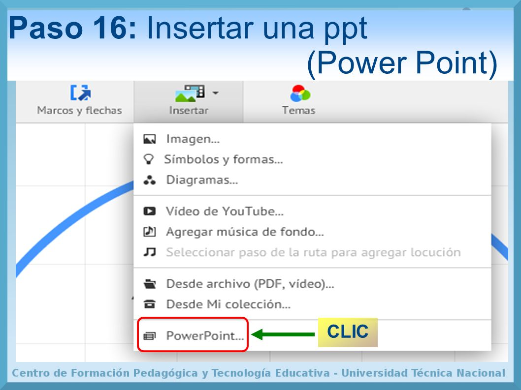 Paso 16: Insertar una ppt (Power Point)