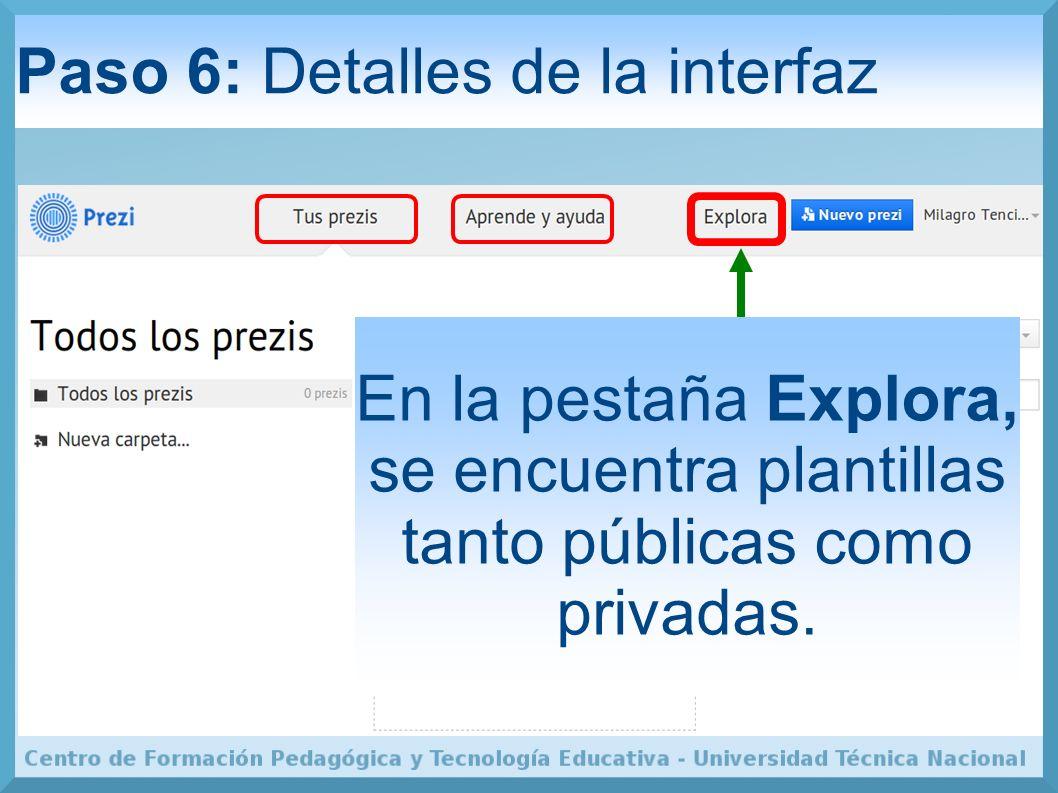 Paso 6: Detalles de la interfaz