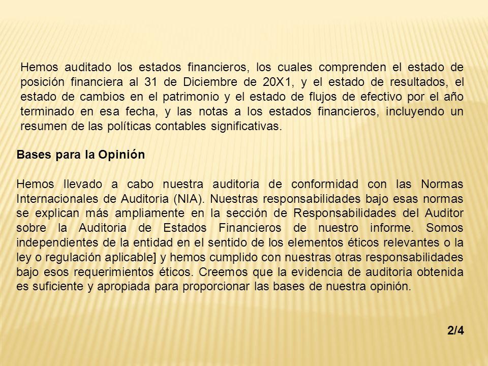RESPONSABILIDAD DEL AUDITOR CON RESPECTO A OTRA INFORMACIÓN - ppt ...