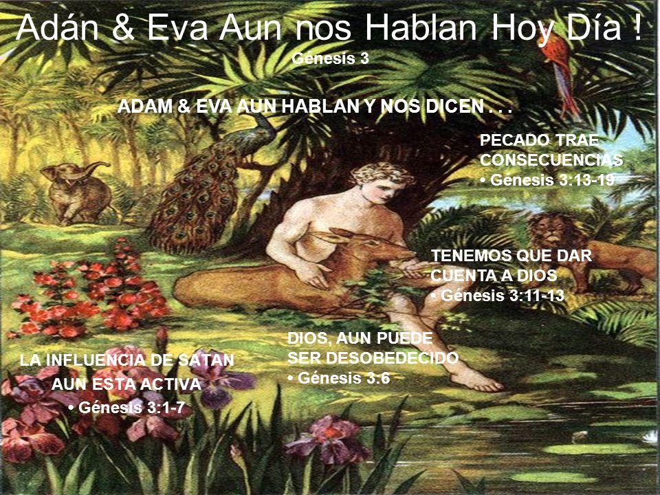 Adán & Eva Aun nos Hablan Hoy Día ! Génesis 3