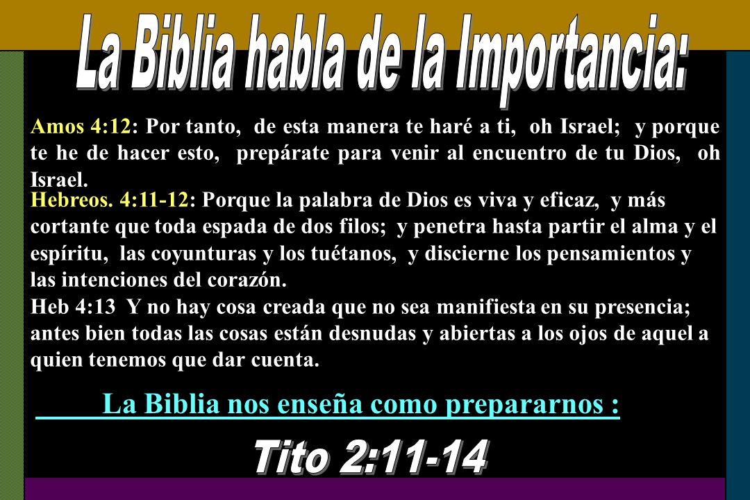 La Biblia habla de la Importancia: