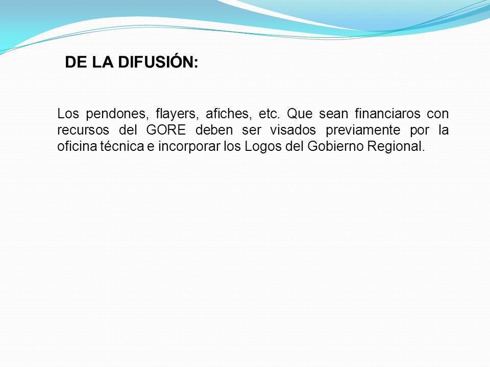DE LA DIFUSIÓN: