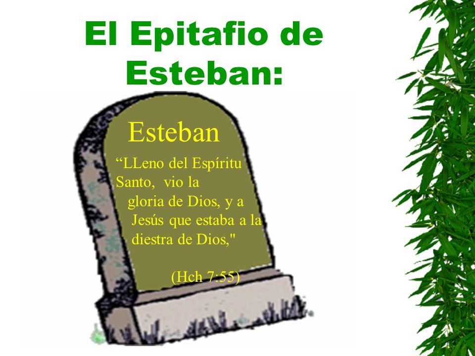 El Epitafio de Esteban: