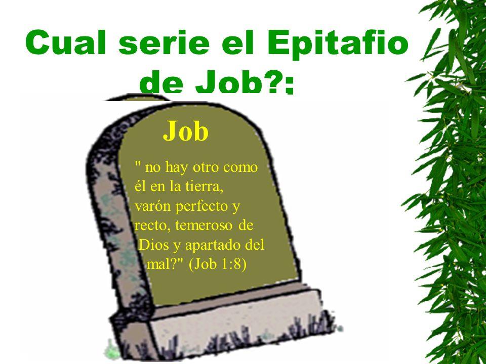 Cual serie el Epitafio de Job :