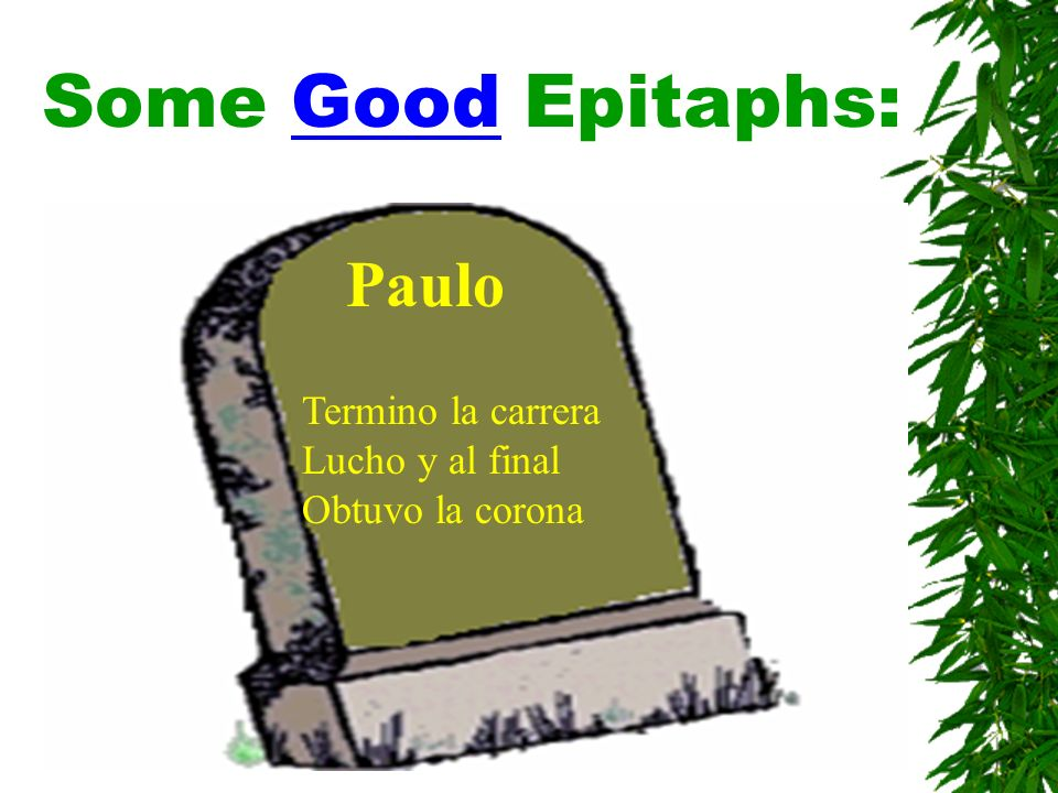 Some Good Epitaphs: Paulo Termino la carrera Lucho y al final