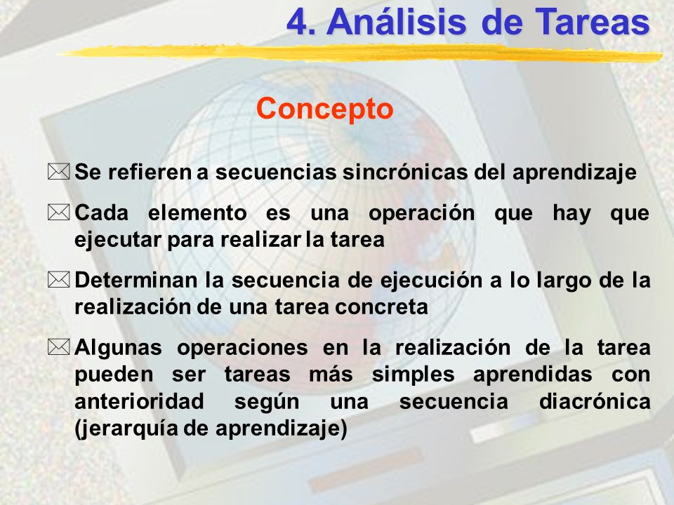 4. Análisis de Tareas Concepto