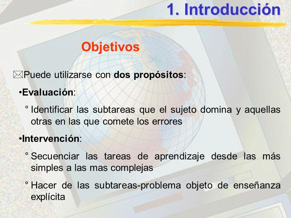 1. Introducción Objetivos Puede utilizarse con dos propósitos: