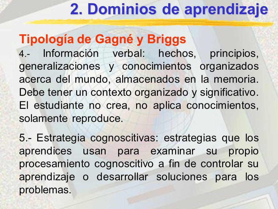 2. Dominios de aprendizaje