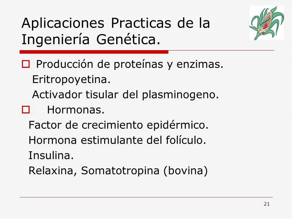 Aplicaciones Practicas de la Ingeniería Genética.