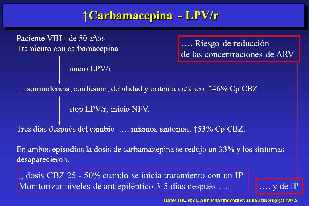 ↑Carbamacepina - LPV/r