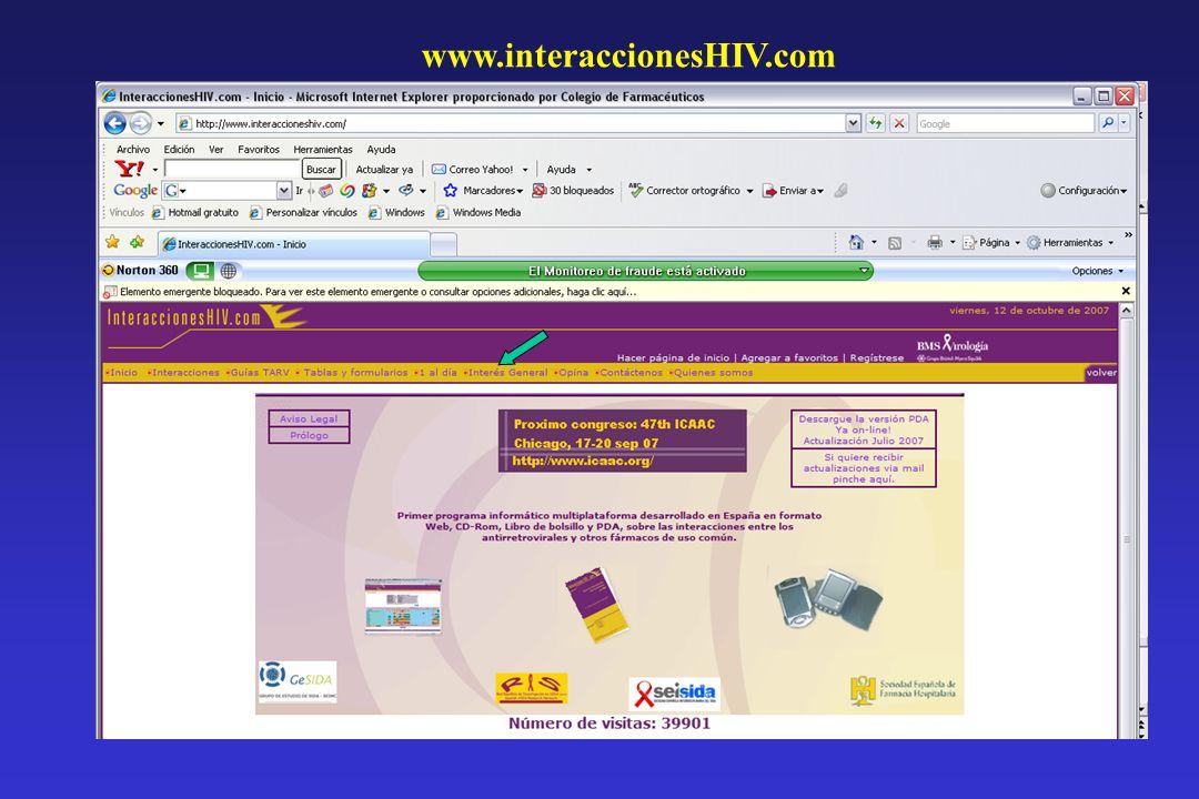 www.interaccionesHIV.com