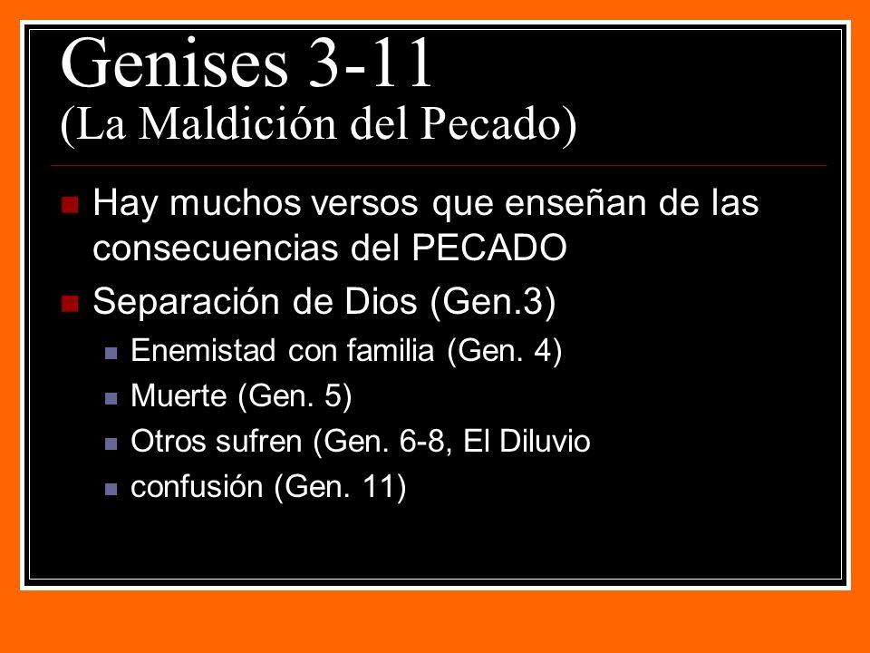 Genises 3-11 (La Maldición del Pecado)