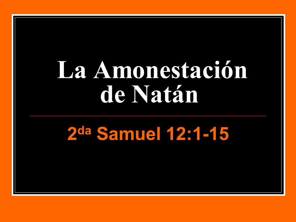 La Amonestación de Natán
