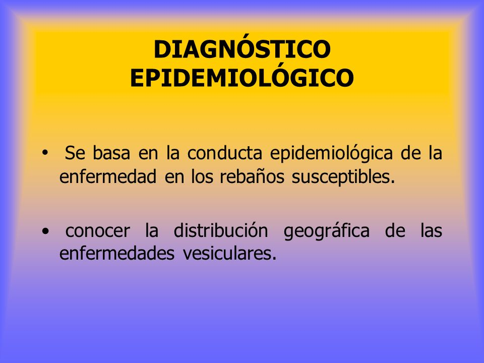 DIAGNÓSTICO EPIDEMIOLÓGICO
