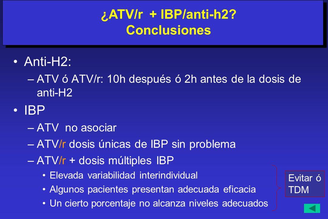 ¿ATV/r + IBP/anti-h2 Conclusiones