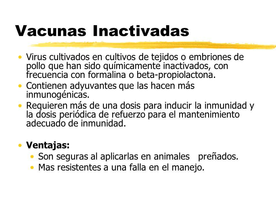 Vacunas Inactivadas
