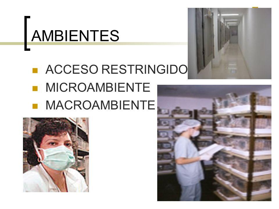 AMBIENTES ACCESO RESTRINGIDO MICROAMBIENTE MACROAMBIENTE