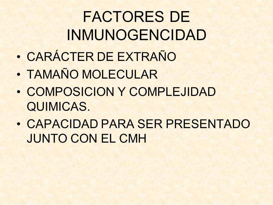 FACTORES DE INMUNOGENCIDAD