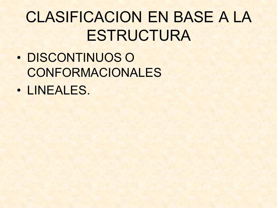 CLASIFICACION EN BASE A LA ESTRUCTURA
