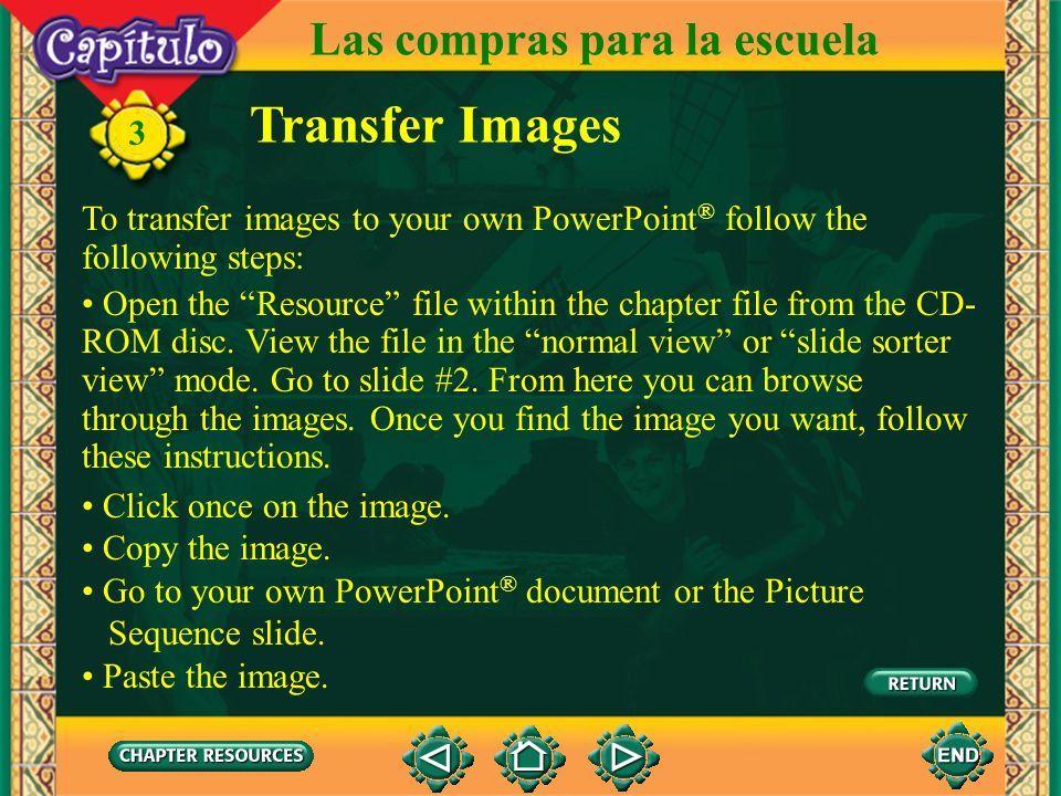 Transfer Images Las compras para la escuela 3