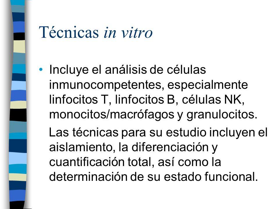 Técnicas in vitro