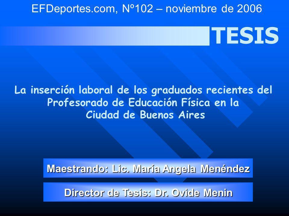 TESIS EFDeportes.com, Nº102 – noviembre de 2006