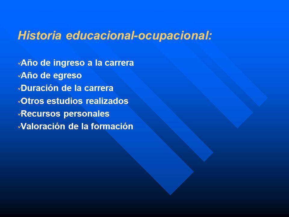 Historia educacional-ocupacional: