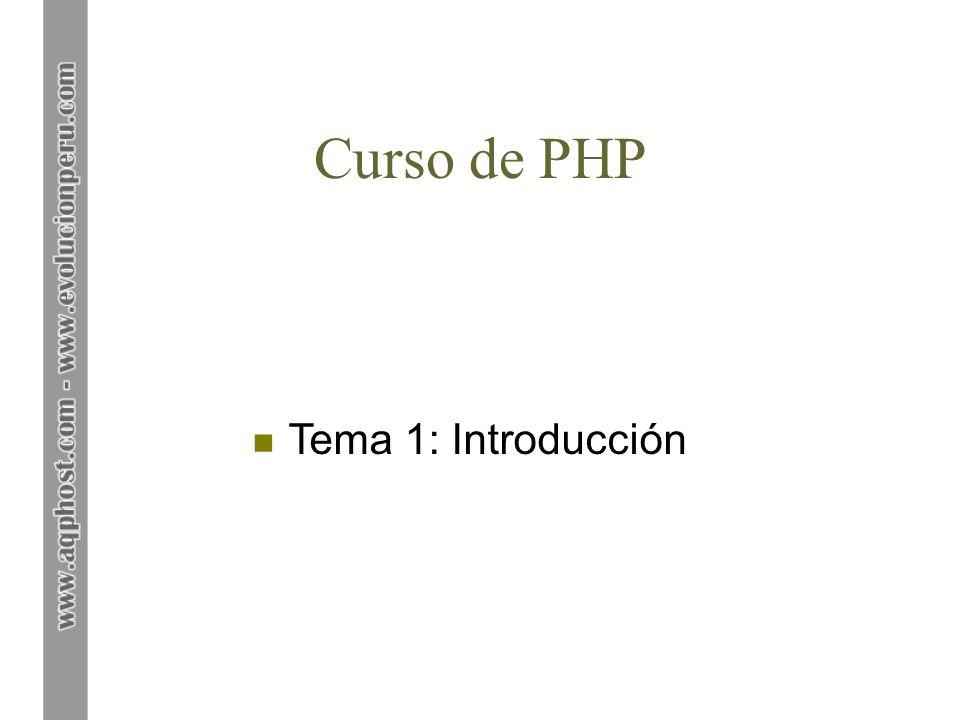 Curso de PHP Tema 1: Introducción